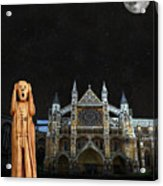 The Scream World Tour Westminster Abbey Acrylic Print by Eric Kempson