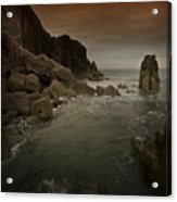 The Sea And The Rocks Acrylic Print