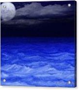 The Sea At Night Acrylic Print