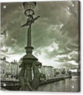 The Seahorses 2 Bw Acrylic Print