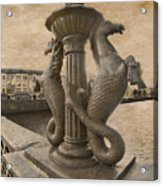 The Seahorses 3 Sepia Acrylic Print