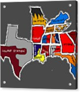 The Sec South Eastern Conference Teams Acrylic Print