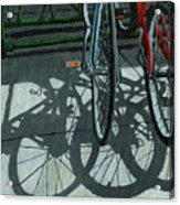 The Secret Meeting - Bicycle Shadows Acrylic Print