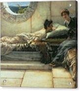 The Secret Acrylic Print by Sir Lawrence Alma-Tadema