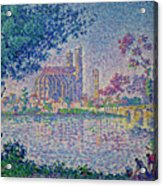 The Seine At Mantes, By Paul Signac, 1899-1900, Kroller-muller M Acrylic Print