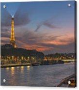 The Seine Evening Acrylic Print