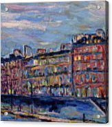 The Seine In Paris Acrylic Print