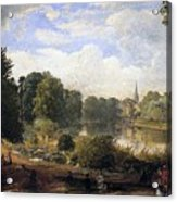 The Serpentine Acrylic Print by Jasper Francis Cropsey