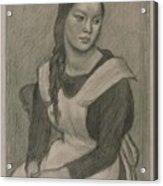 The Servant Girl Painting Acrylic Print