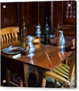 The Set Table Acrylic Print by Trevor Wintle