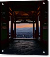 The Setting Sun And Kiyomizu-dera Acrylic Print