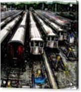 The Seven Train Yard Queens Ny Acrylic Print