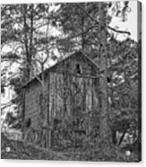 The Shack In Black And White Acrylic Print
