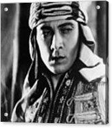 The Sheik, Rudolph Valentino, 1921 Acrylic Print by Everett