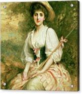 The Shepherdess Acrylic Print