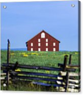 The Sherfy Farm At Gettysburg Acrylic Print