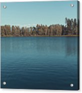 The Shore Of Flathead River Acrylic Print
