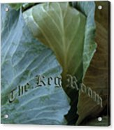 The Shy Cabbage The Keg Room Old English Hunter Green Acrylic Print