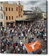 The Sights And Sounds Of Sxsw Are Enormous From 6th Street As Thousands Of Revelers Fill The Streets Acrylic Print