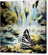 The Silence Of The Waterfall 2 Acrylic Print