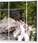 The Sinks Smoky Mountains Triptych Acrylic Print