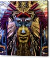 The Sioux Spirit - The Plumed Lion Acrylic Print