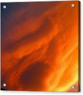 The Sky Is Burning Acrylic Print
