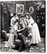 The Sleepy Lover, 1902 Acrylic Print