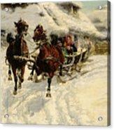 The Sleigh Ride Acrylic Print by JFJ Vesin