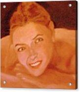 The Smiling Girl Acrylic Print
