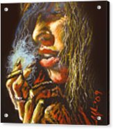 The Smoking Senorita Acrylic Print