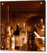 The Snake Oil Shop - Sepia Acrylic Print