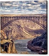 The Snake River At Twin Falls Idaho Acrylic Print