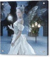 The Snow Fairy Acrylic Print by Melissa Krauss