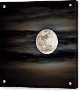 The Snow Moon Is Arising  Acrylic Print