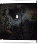 The Snow Moon Acrylic Print