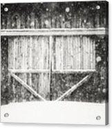 The Snowy Barn II Acrylic Print