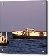 The Sonny S Ferry Docking At Middlebass Island Acrylic Print