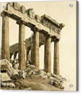 The South-east Corner Of The Parthenon. Athens Acrylic Print