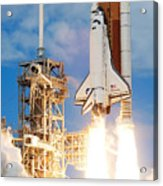The Space Shuttle Discovery And Its Seven Acrylic Print