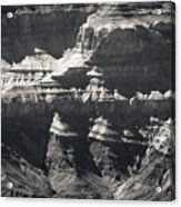 The Spectacular Grand Canyon Bw Acrylic Print