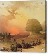 The Sphinx At Giza Acrylic Print by David Roberts