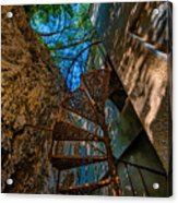 The Spiral Staircase Of The Abbandoned Children Summer Vacation Building - La Scala A Chiocciola Del Acrylic Print
