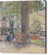 The Square At Vintimille Acrylic Print by Edouard Vuillard