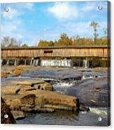 The Square Dance Venue Watson Mill Covered Bridge Acrylic Print
