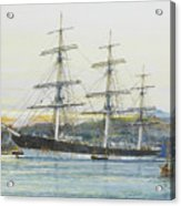 The Square-rigged Australian Clipper Old Kensington Lying On Her Mooring Acrylic Print