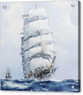 The Square-rigged Wool Clipper Argonaut Under Full Sail Acrylic Print