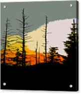The Stained Glass Forest Acrylic Print