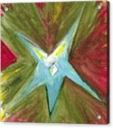 The Star From The Top Of The Tree Acrylic Print
