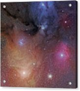 The Starforming Region Of Rho Ophiuchus Acrylic Print